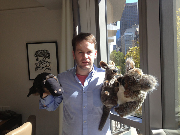 Comedian Mike Birbiglia shared a puzzling shot. Source: Twitter user birbigs