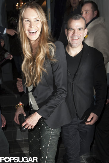 Elle Macpherson had a huge smile as she left the event.