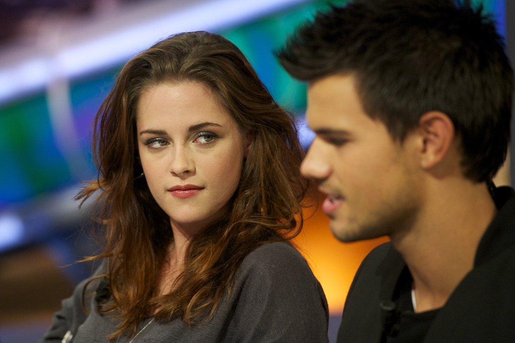 Kristen Stewart threw a sexy look Taylor Lautner's way during an appearance on El Hormiguero while in Spain in November 2012.
