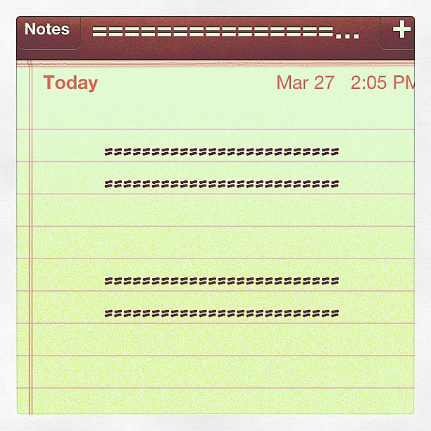 A supporter turned to the Notes app to get her voice heard.  Source: Instagram user quietandmean