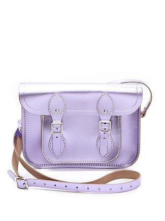As if I didn't already love the Cambridge Satchel, the British company now offers the same classic shape in a metallic color scheme. The lilac Cambridge Satchel ($175) is perfect for spring, and the royal blue's bright pop of color is on par with this season's color trends. Decisions, decisions . . . — Jen Michalski