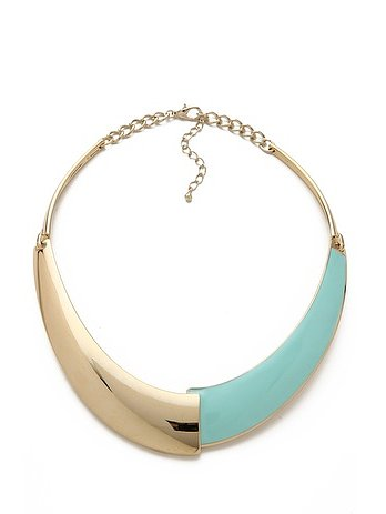It's about time I add a collar to my jewelry collection, and I'm eyeing the dual gold and aqua colors on this Adia Kibur Gold & Enamel Collar ($55). The statement piece will add some glam to my work attire, and be the perfect finishing touch on a weekend-night-out LBD. — Jen Michalski