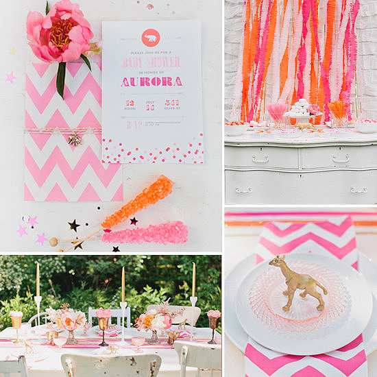 Baby Showers: A Luxe Gold and Pink Circus Baby Shower
