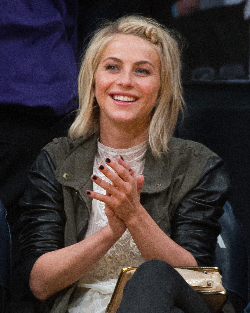 Long- and short-haired women alike can try out this playful look from Julianne Hough. Take a small section of hair on the top of your head, twist to one side, and secure with a bobby pin.