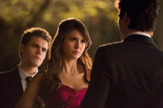 Paul Wesley, Nina Dobrev, and Ian Somerhalder on The Vampire Diaries.