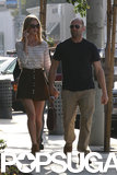Jason and Rosie Show Sweet PDA During a Shopping Trip