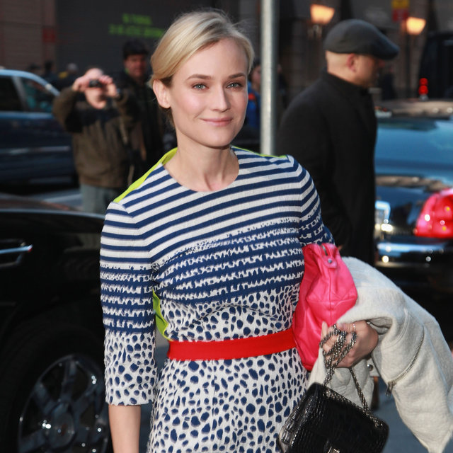 Diane Kruger Arriving at Good Morning America 2013