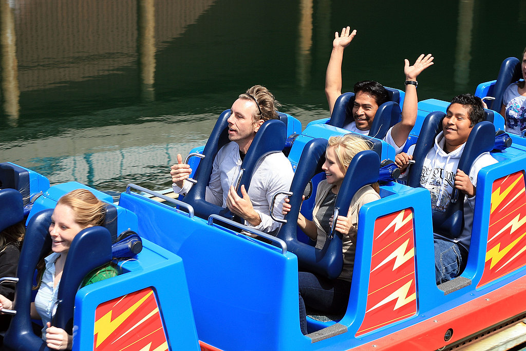 Kristen Bell and Dax Shepard visited Disney California Adventure Park in April 2008.