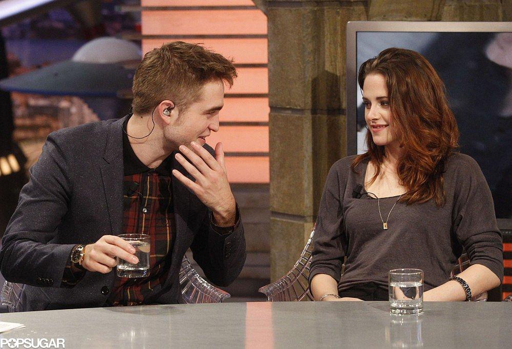 Robert Pattinson and Kristen Stewart visited El Hormiguero to promote Breaking Dawn Part 2 in Madrid in November 2012.