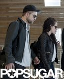 Robert Pattinson and Kristen Stewart caught a flight out of Paris together in March 2012.