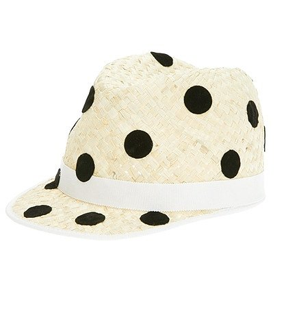 Spot on! Work this polka-dot Benoit Missolin fedora ($203) with everything from jeans and a tee to a classic LBD.