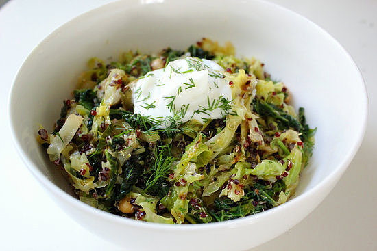 Toasted Quinoa and Savoy Cabbage