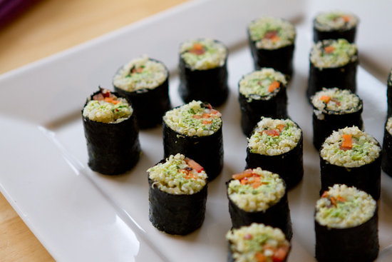 Edamame and Quinoa Vegan California Rolls