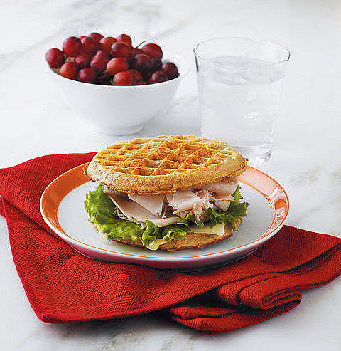 Turkey and Cheese Waffle Sandwich