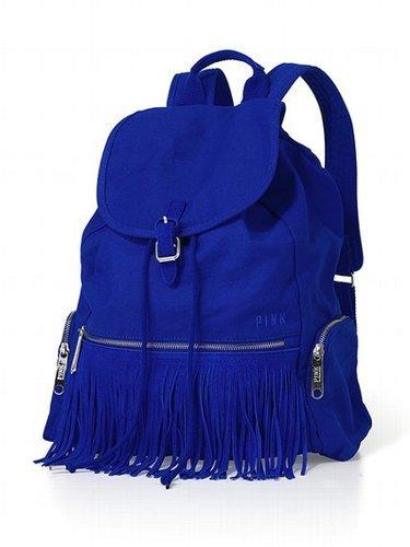 PINK Fringe Backpack