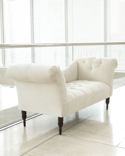 White Sofas and Silver Side Tables