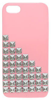 WetSeal Pyramid Studded Phone Case Pink
