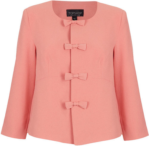 Bow Front Crop Jacket