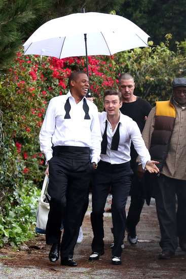 "Jay-Z and Justin Timberlake teamed up in late January to film the music video for ""Suit & Tie"" in LA."