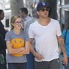 Ryan Phillippe Takes Ava and Deacon to Lunch in LA