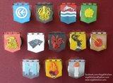 Fondant House Sigil Cupcakes