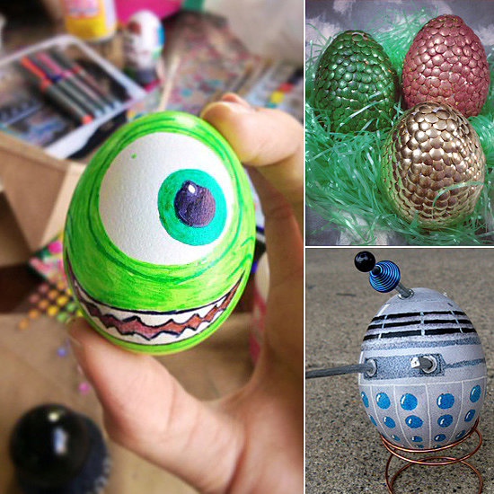Unique egg decorating ideas popsugar tech Creative easter egg decorating ideas