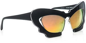 Linda Farrow For Jeremy Scott Space cat-eye sunglasses