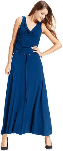 Calvin Klein Dress, Sleeveless Drop-Waist Maxi