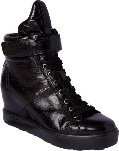 Prada Velcro Band High Top Sneaker