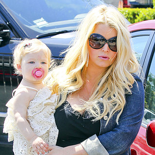 Pregnant Jessica Simpson With Maxwell and Eric | Photos