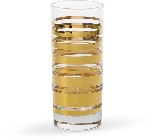 Golden Stripe Highball Glasses (Set of 4)