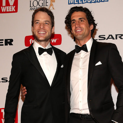Hamish Blake, Zoe Foster and Andy Lee at 2013 Logies