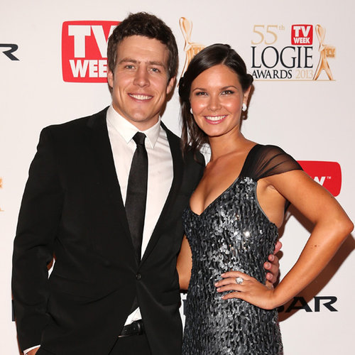 Steve Peacocke at 2013 Logies With Bridgette Sneddon