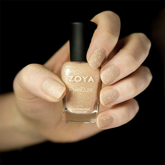 Want to amp up the standard nude nail? Look no further than Zoya PixieDust in Godiva ($9). The nude beige polish dries matte and is infused with chunky pieces of glitter for an unexpected look.