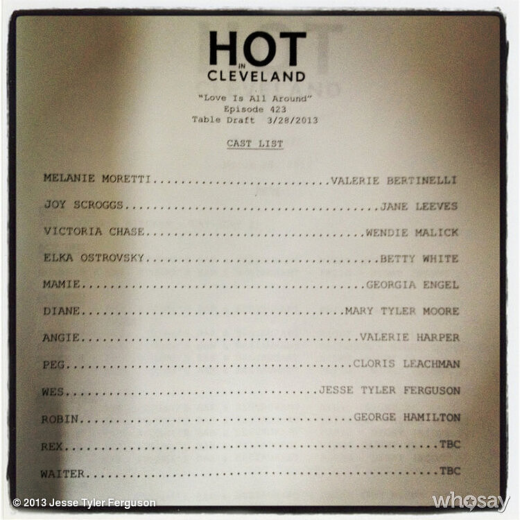 An excited Jesse Tyler Ferguson showed the casting call for his episode of Hot in Cleveland. Source: Jesse Tyler Ferguson on WhoSay