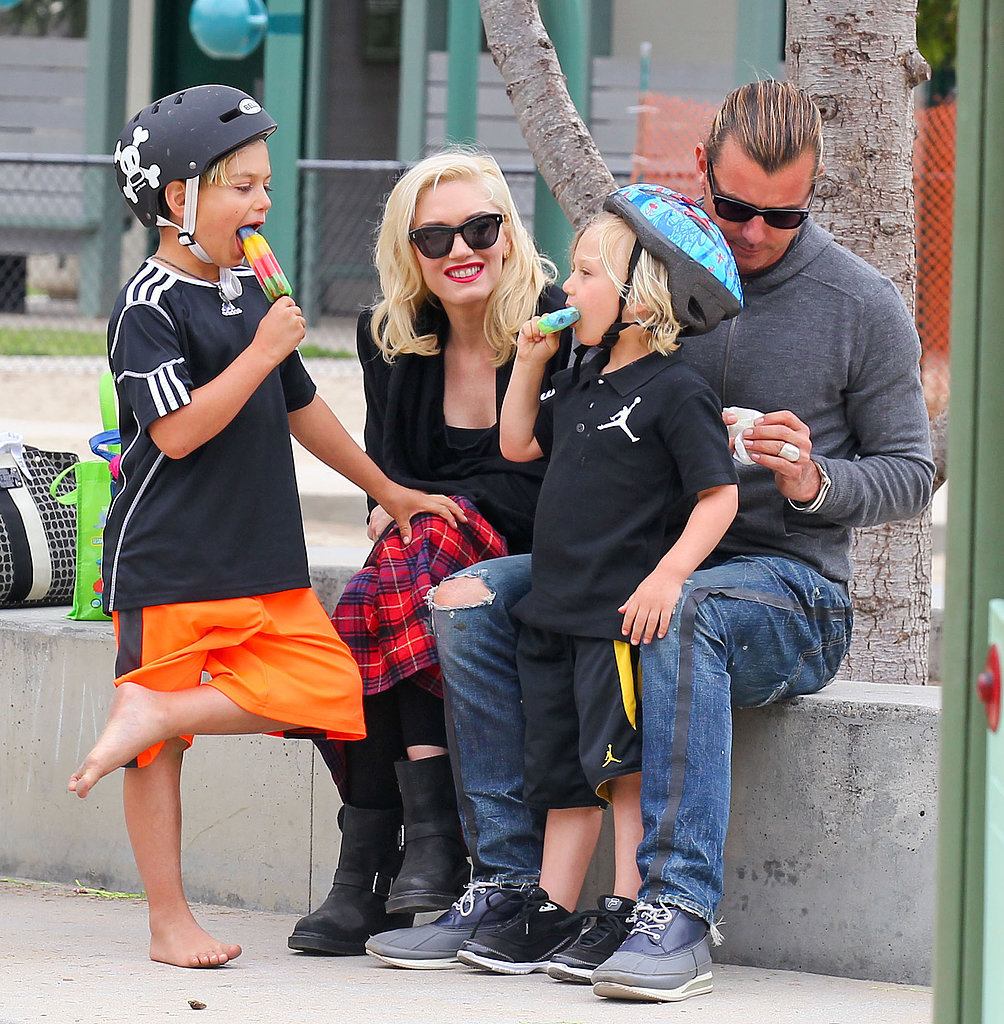 Gwen Stefani Spends a Festive Family Weekend With Her Boys
