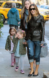 Sarah Jessica Parker smiled with her girls by her side.