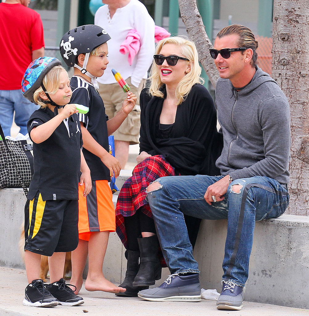 Gwen Stefani and Gavin Rossdale watched over their boys during a visit to an LA park.