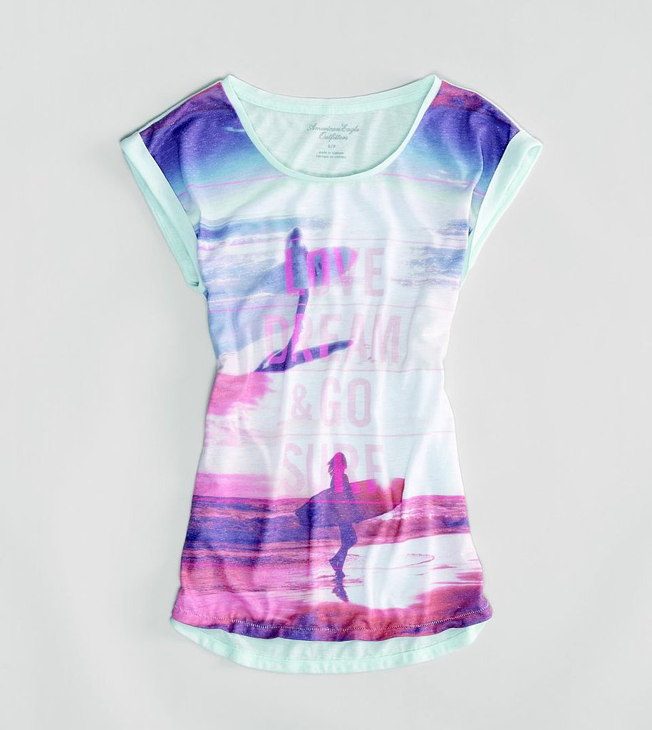 This American Eagle Photo Real T ($25) is perfect for the surfer chick.