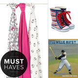 Check out the must-have items for the month over at POPSUGAR Moms, from wellies that will keep your tot dry while splashing in puddles to a new picture book about one of the greatest baseball players ever.
