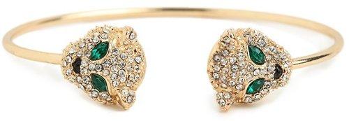 Gold Ice Jaguar Bangle