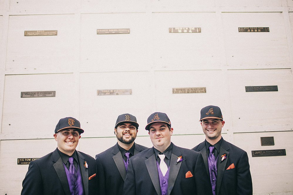 Groomsmen in Caps