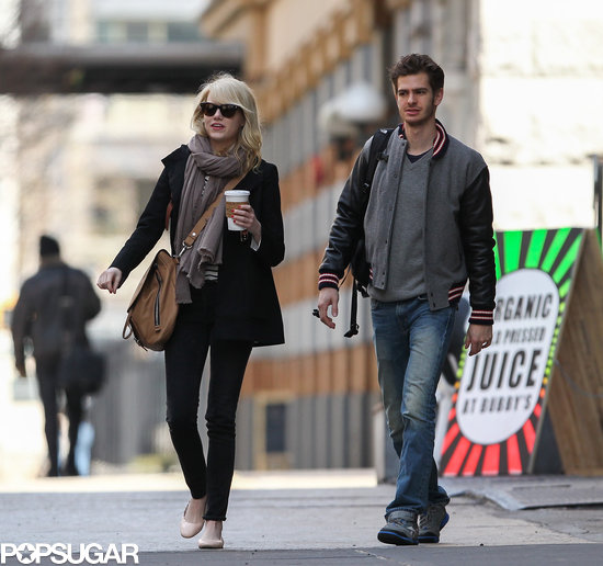 Emma Stone and Andrew Garfield grabbed breakfast together in NYC.