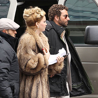 Bradley Cooper and Jennifer Lawrence on Set in Boston