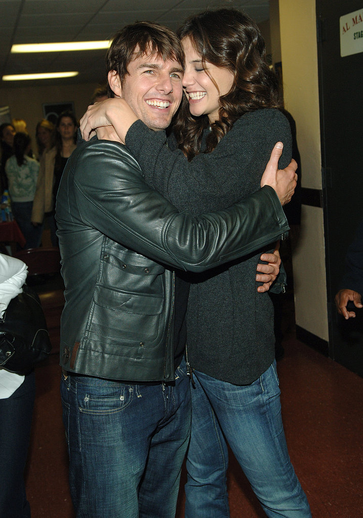 Tom Cruise and Katie Holmes showed off their new relationship at the award show in 2005.