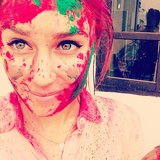 Lauren Conrad showed off her colours after the Holi Festival. Source: Instagram user laurenconrad