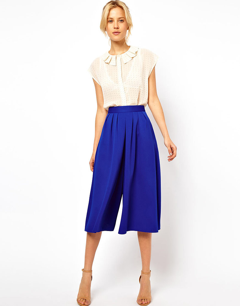 In case you didn't get the memo, culottes are majorly in for Spring, so get in on the style via these ASOS cobalt culottes ($45).