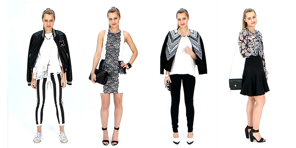 See How We're Wearing Spring's Black and White Trend Now
