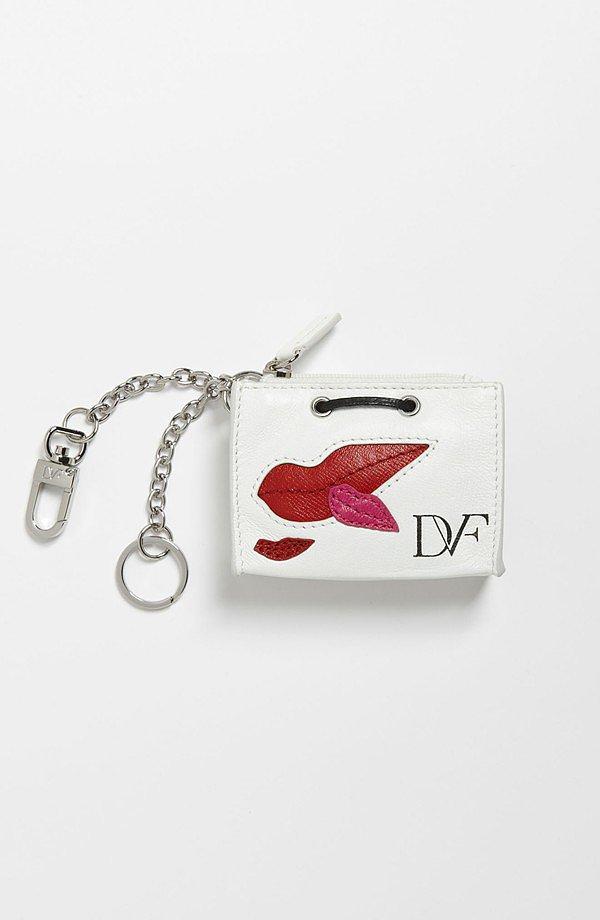 Get a little lip service with this DVF shopping bag key chain ($85).