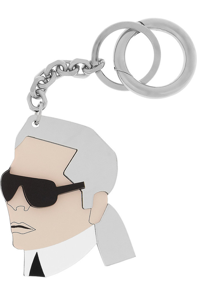 Ever dreamed of hitting the movies, going shopping, or just lounging around with Karl Lagerfeld? With this plexiglass Karl Lagerfeld keychain ($179), the possibilities are endless.